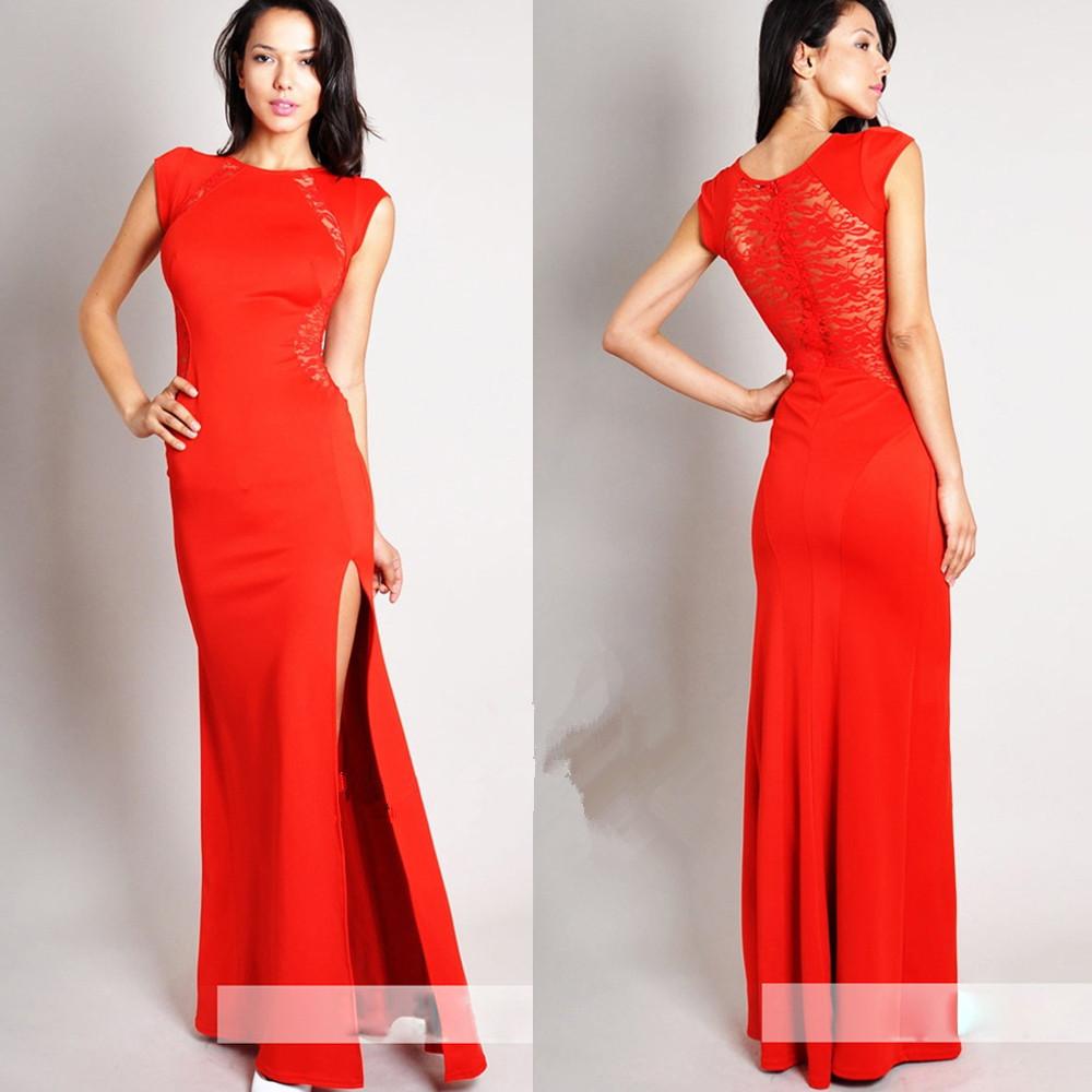 661a65a50b Sukienka wieczorowa dopasowana koronka czarna czerwona s - xxl MODITO
